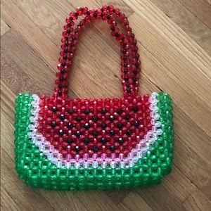 Handbags - Watermelon handmade beaded bag